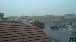 Snowing In Hesperia View From Upstairs Room