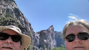 Dad and I at our first picture taking moment in Yosemite